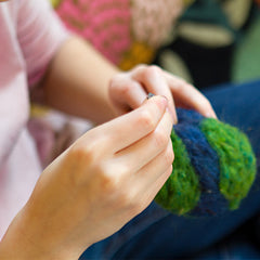 the world in your hands felting kit