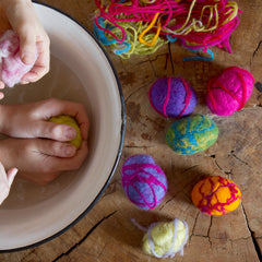 felted spring egg kit - nova natural toys & crafts