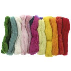 rainbow felting fleece