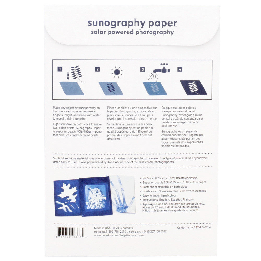 sunography- paper- Nova Natural Toys & Crafts