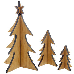winter woods- set of 3