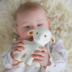 natural rubber teething lamb - Nova Natural Toys & Crafts - 1