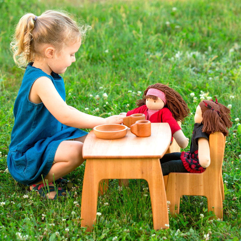 dolly's table and chairs - lifestyle - nova natural toys & crafts