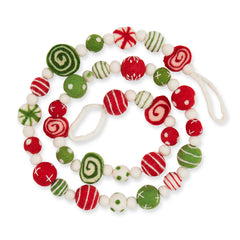 Peppermint Mix Felt Garland