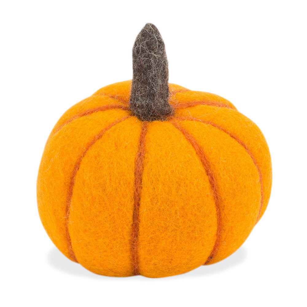 hand-felted pumpkin- nova natural