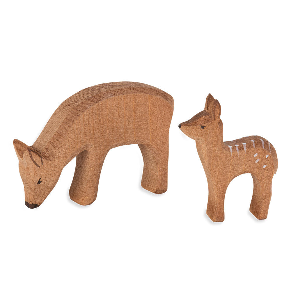 mother & baby deer - nova natural toys & crafts