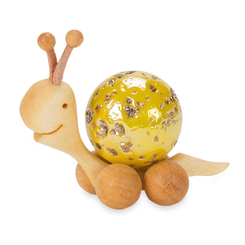 marble-shell snail - yellow - nova natural toys & crafts