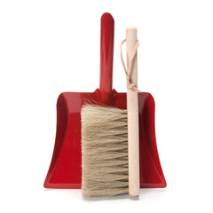 red dustpan + brush set - Nova Natural Toys & Crafts - 1