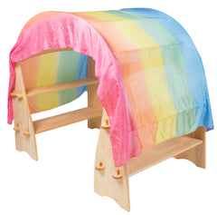 silk rainbow canopy