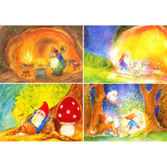 gnomes postcard set