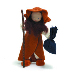 shepherd soft doll with bag