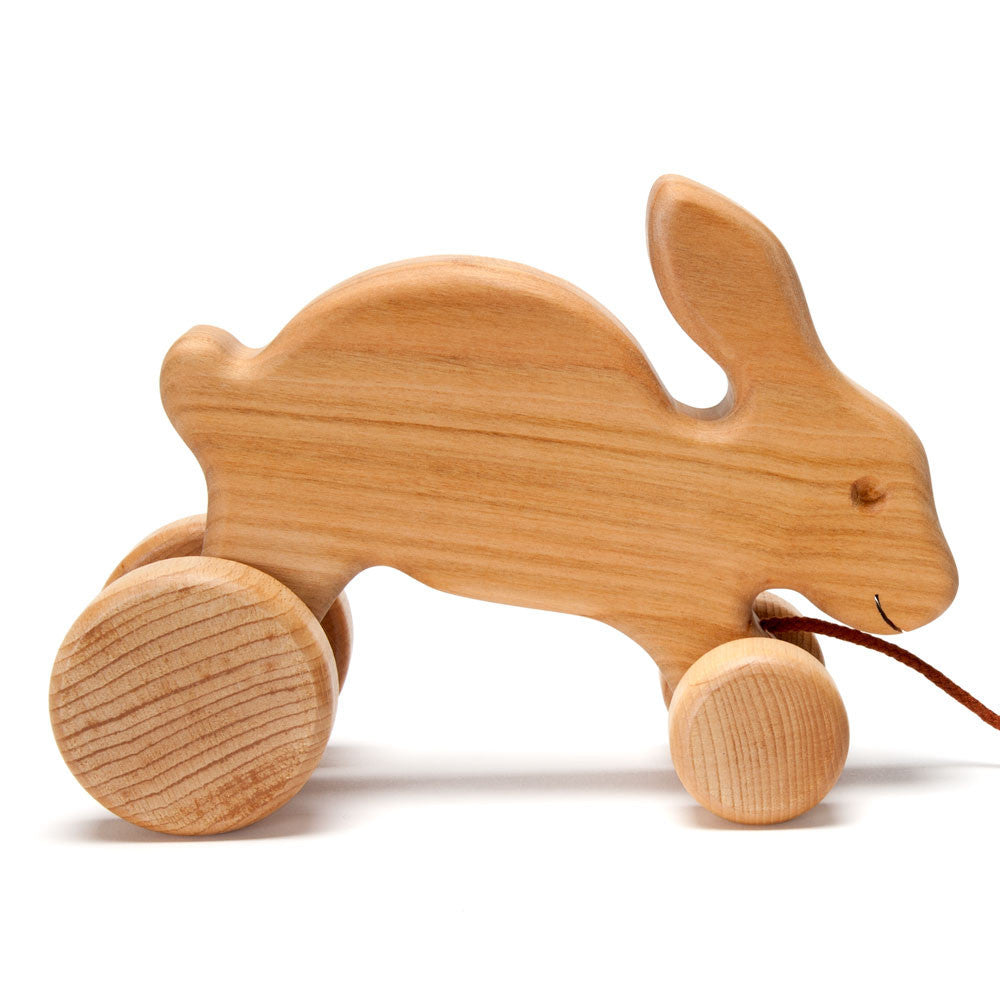 hopping bunny pull toy - Nova Natural Toys & Crafts - 1