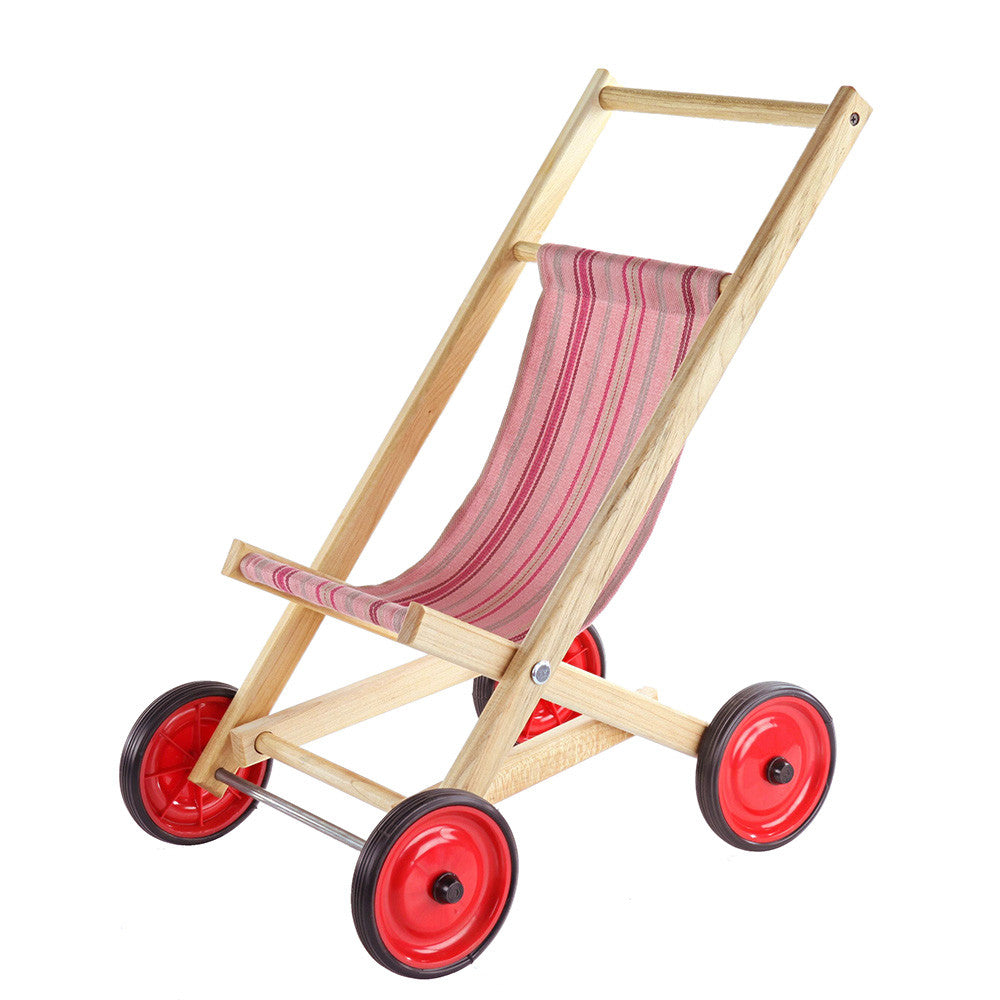 doll stroller strawberry stripe