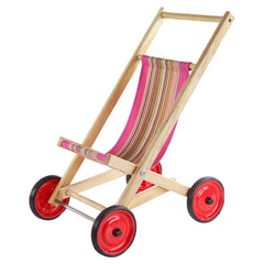 doll stroller rose stripe