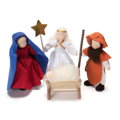 holy family with angel soft doll set