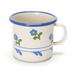 flowered enamel cup