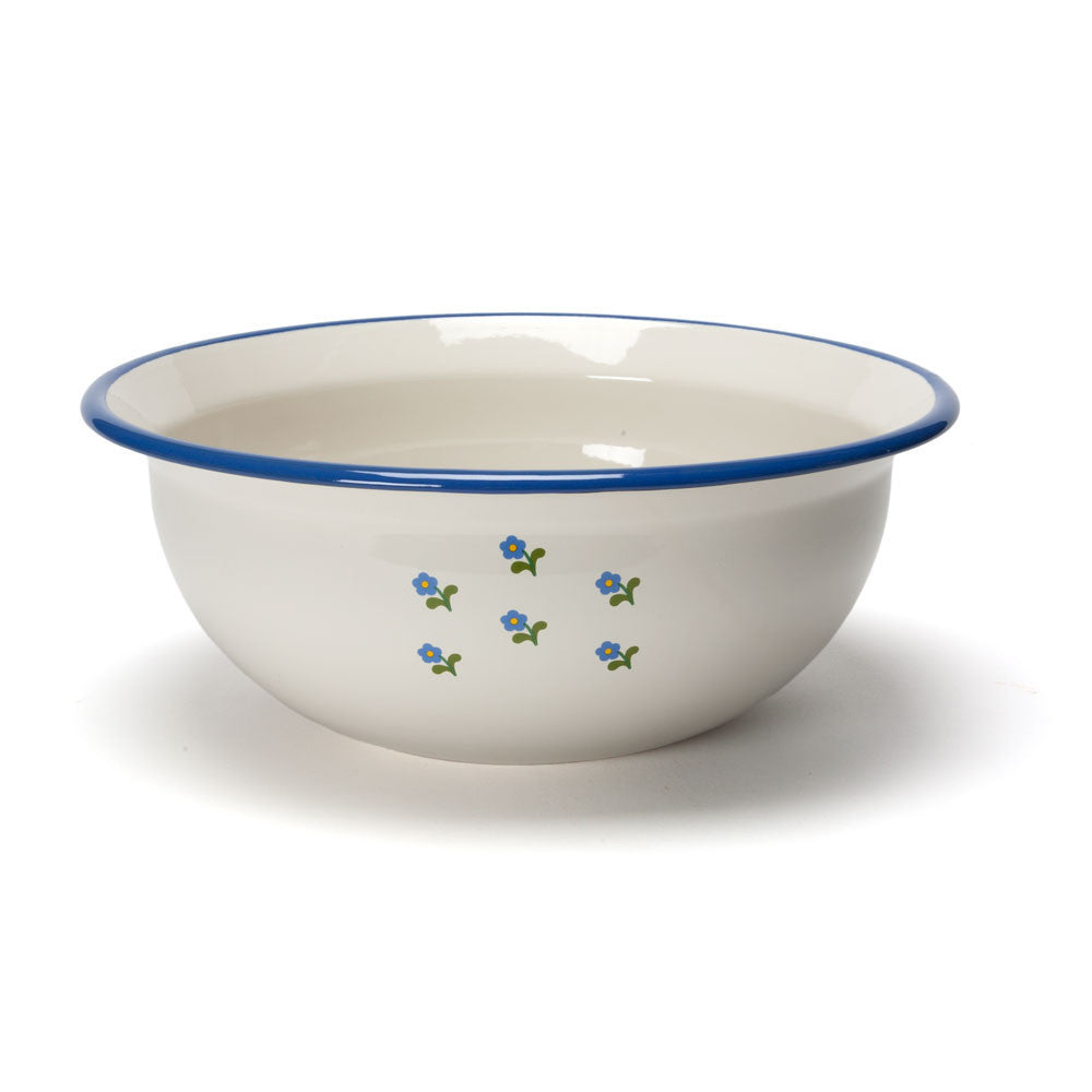 flowered enamel wash basin - Nova Natural Toys & Crafts - 1