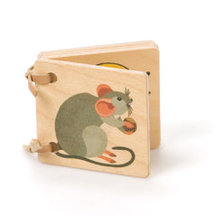 animal friends wooden book