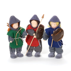 knights & archer soft doll set
