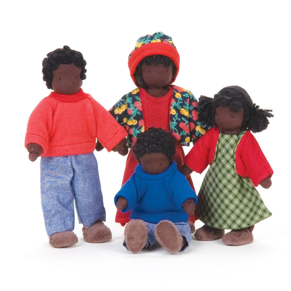 dressable dollhouse family - dark skin - nova natural toys & crafts