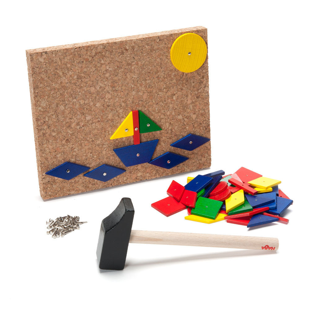 geo shape tack board - Nova Natural Toys & Crafts