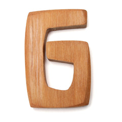 carved wooden number