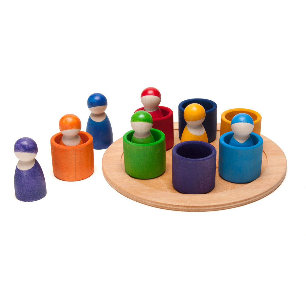 rainbow wooden peg people - Nova Natural Toys & Crafts - 2
