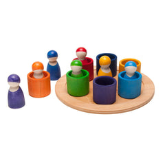 rainbow wooden peg people