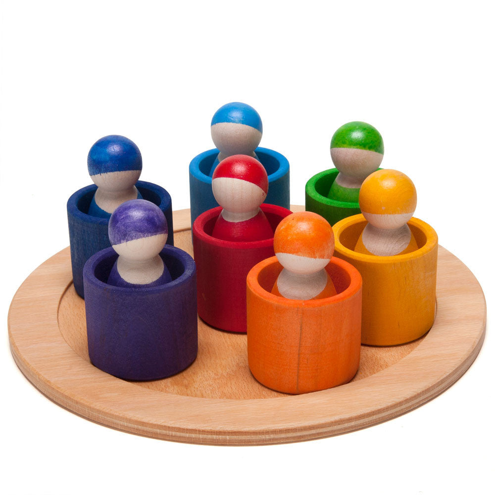 rainbow wooden peg people - Nova Natural Toys & Crafts - 1