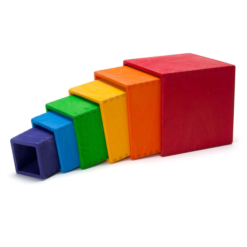 rainbow stacking boxes - Nova Natural Toys & Crafts - 1
