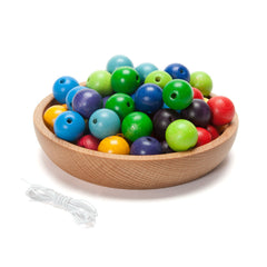 colorful round wooden beads - Nova Natural Toys & Crafts - 1