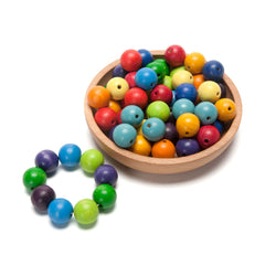 colorful round wooden beads - Nova Natural Toys & Crafts - 2