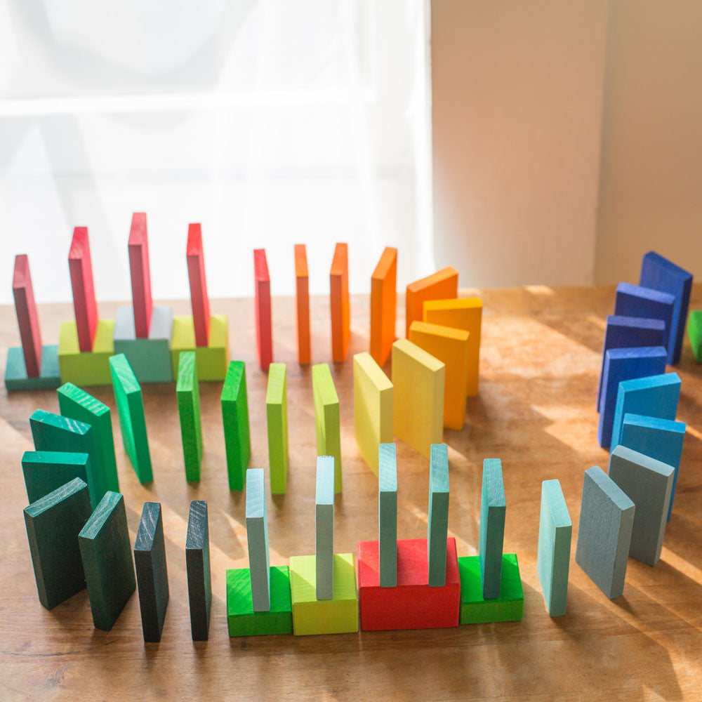 rainbow racing dominoes - Nova Natural Toys & Crafts - 4
