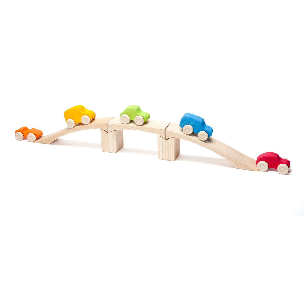 colorful wooden cars set - Nova Natural Toys & Crafts - 2