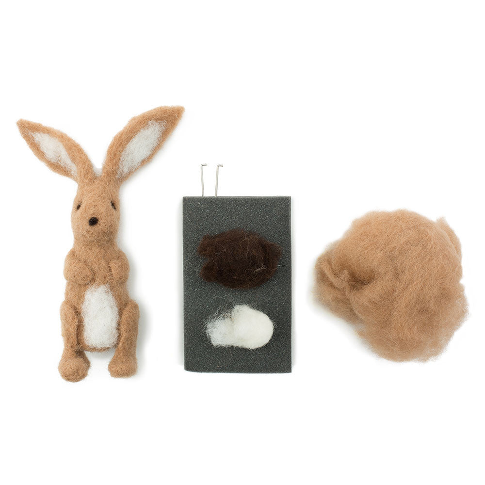 needle felted bunny kit - Nova Natural Toys & Crafts - 1