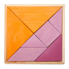 pink/orange tangram puzzle set