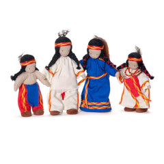 native american family set