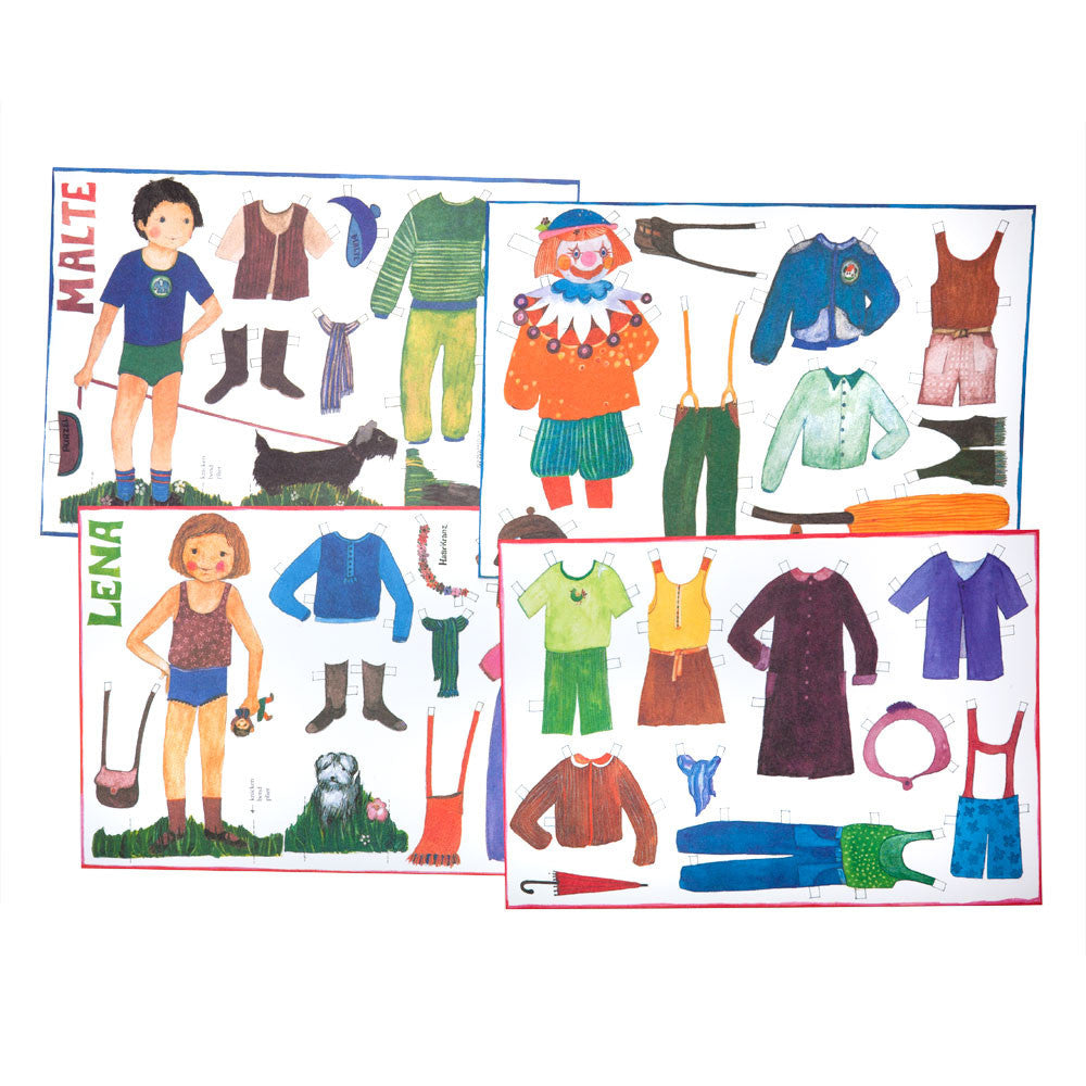 lena and malte paper dolls - Nova Natural Toys & Crafts - 1