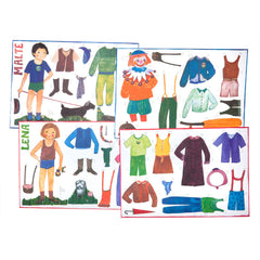 lena and malte paper dolls