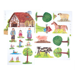 paper doll farmhouse