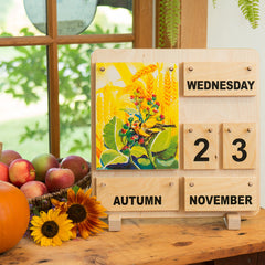 wooden calendar for all seasons