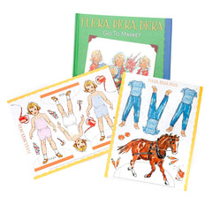 flicka, ricka, dicka go to market - hardcover edition - Nova Natural Toys & Crafts - 1