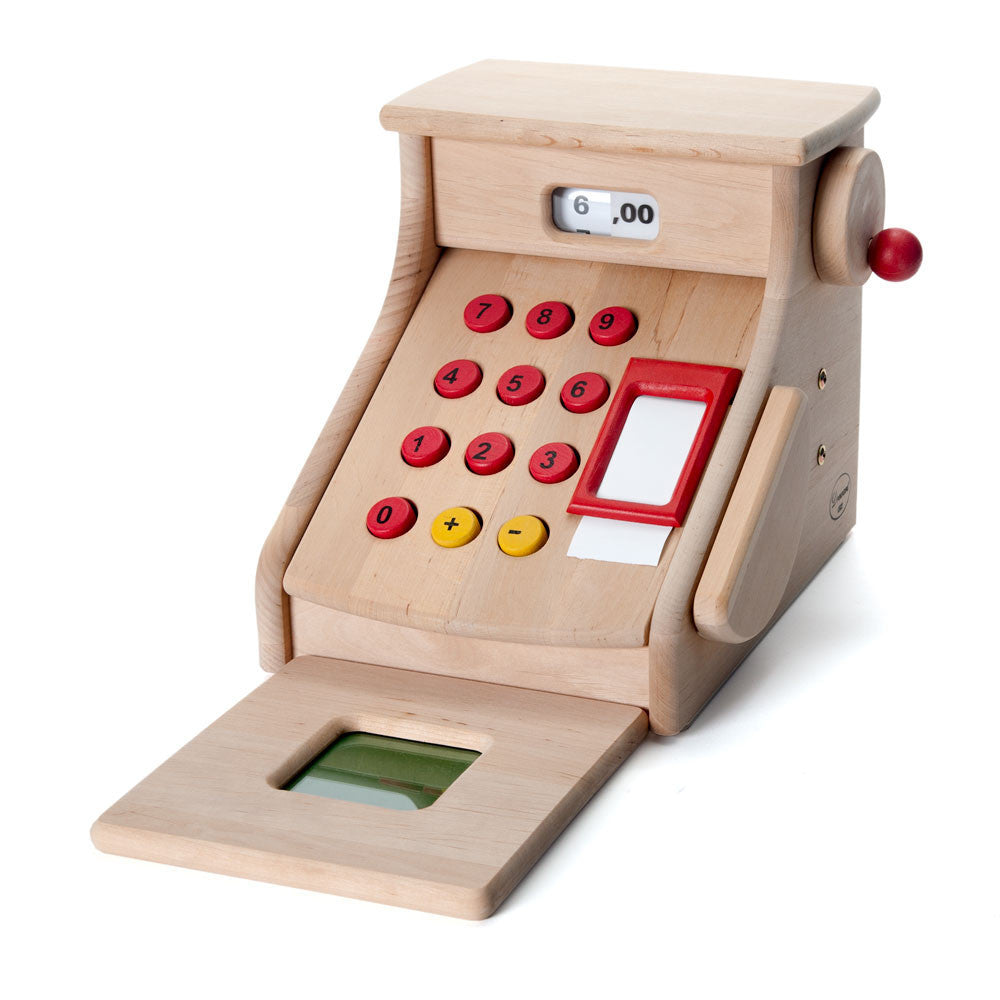 Toy Cash Register With Scanner : Wooden toy cash register in waldorf playstands nova