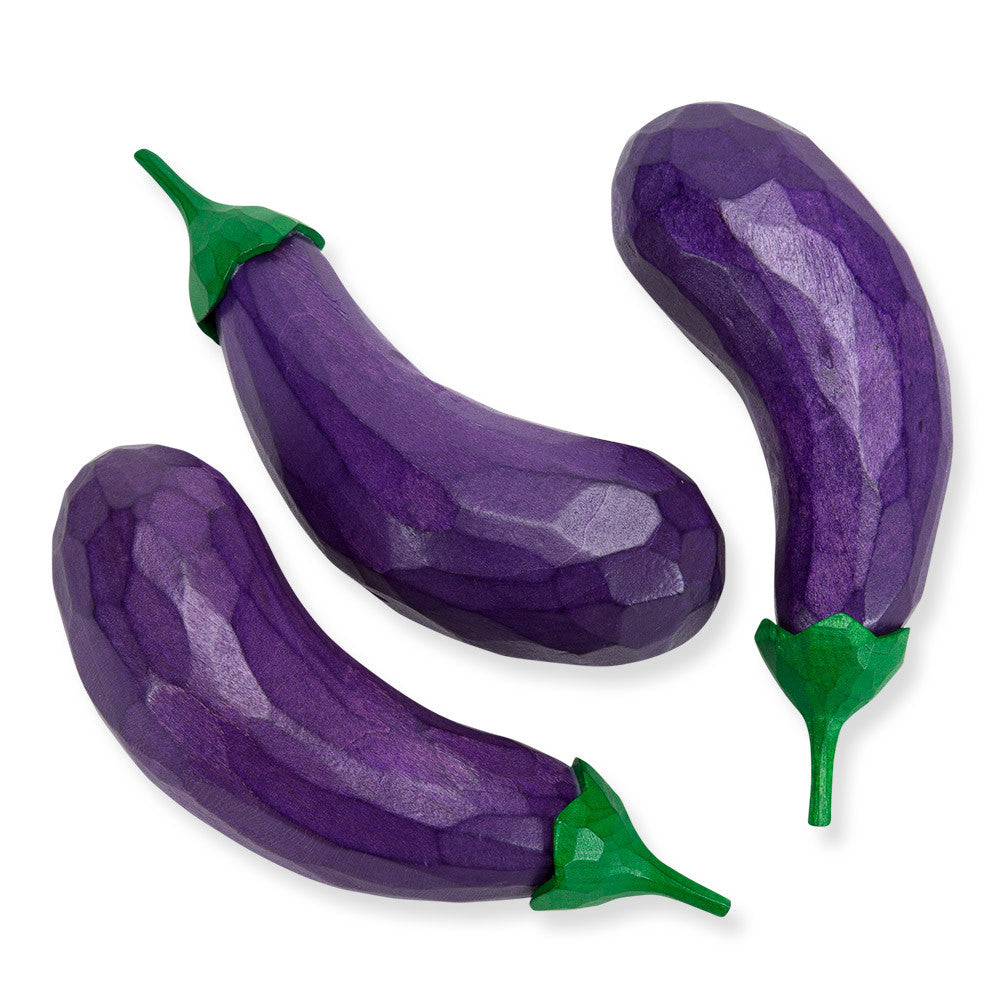 eggplants, set of 3