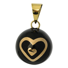 Gold/Black Double Heart