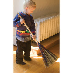 child's rainbow broom
