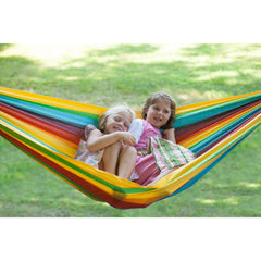 kid's rainbow hammock