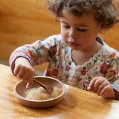 toddler's wooden bowl