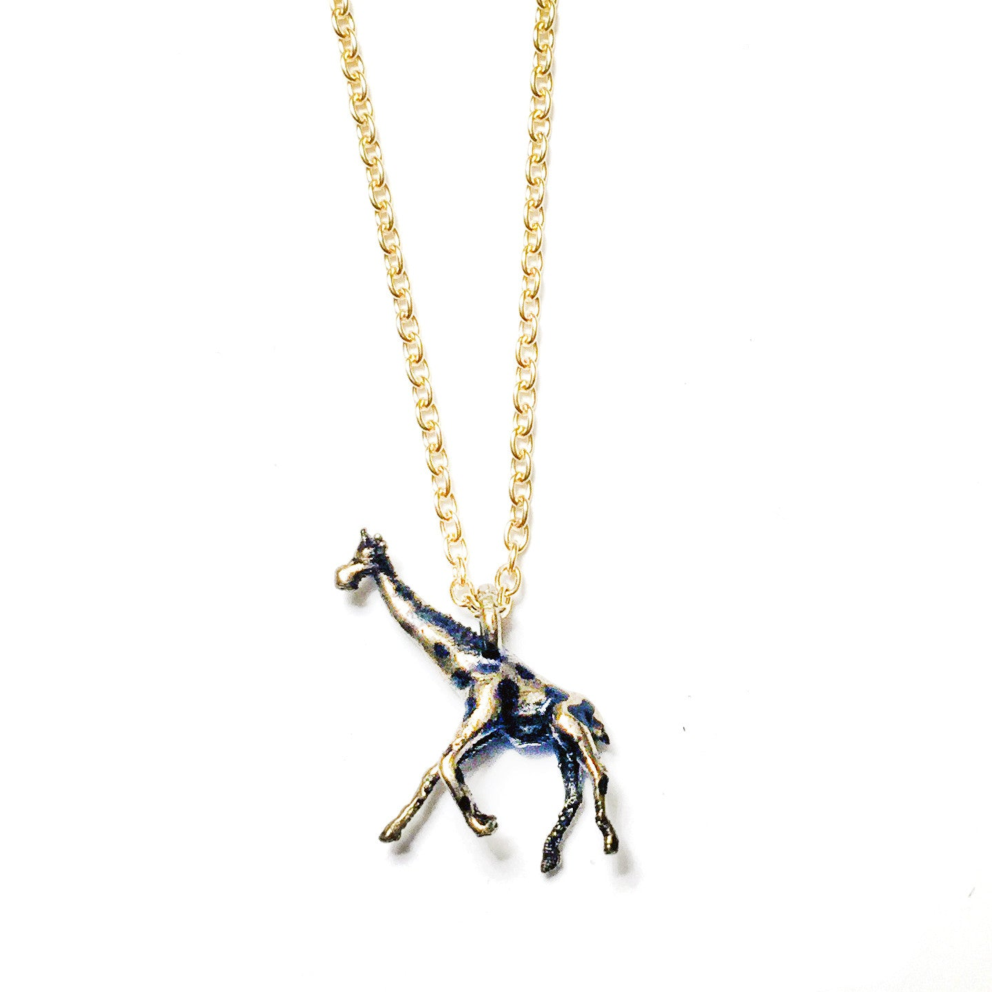wikiwii necklace white crystal pendant giraffe products