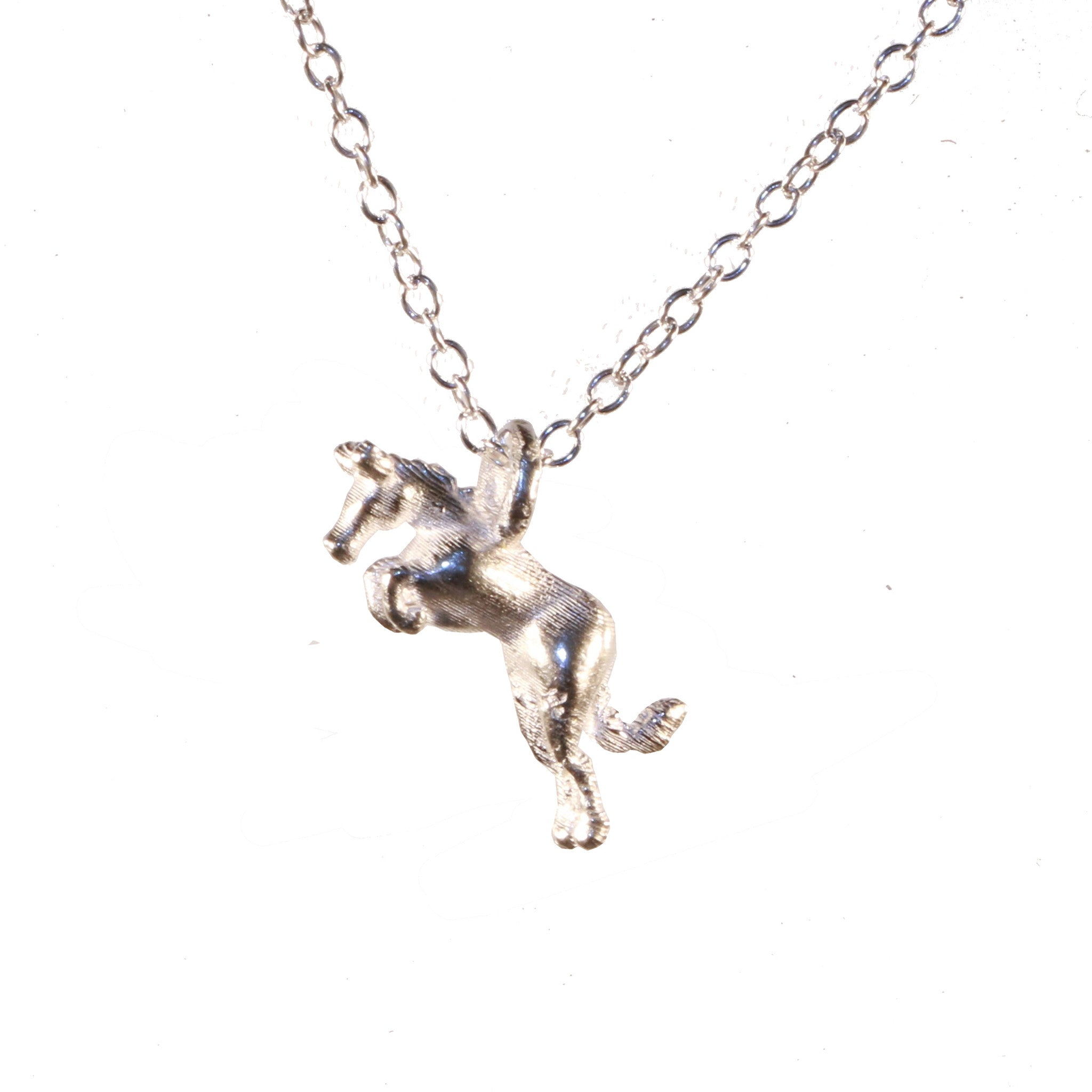silver aching i discworld s necklace out of made tiffany horse pin